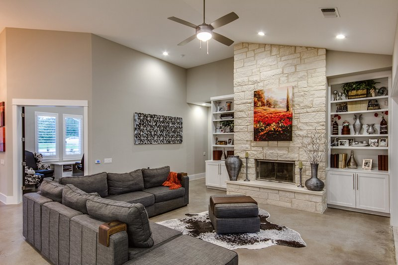 Prairie Interior - Family Room Plan #935-13 - Houseplans.com