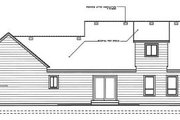 Country Style House Plan - 3 Beds 2.5 Baths 1830 Sq/Ft Plan #101-201 Exterior - Rear Elevation
