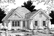 Traditional Style House Plan - 3 Beds 2 Baths 1270 Sq/Ft Plan #20-334 Exterior - Front Elevation