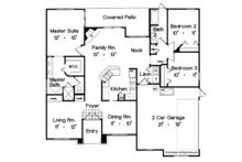 Mediterranean Floor Plan - Main Floor Plan Plan #417-819