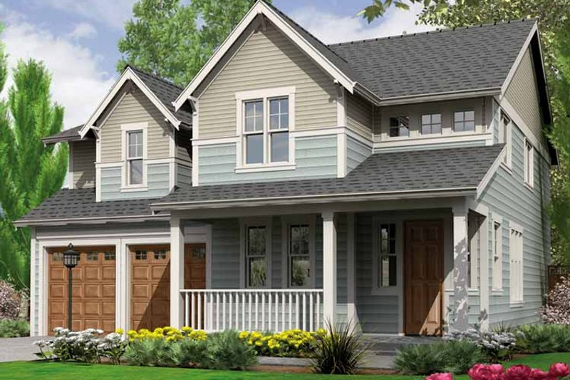 Country Exterior - Front Elevation Plan #966-27 - Houseplans.com