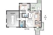 Modern Style House Plan - 2 Beds 2 Baths 1188 Sq/Ft Plan #23-2719 Floor Plan - Main Floor