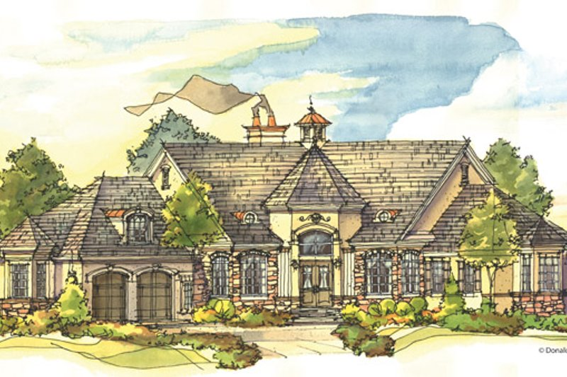 European Exterior - Front Elevation Plan #929-944