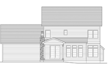 House Plan Design - Colonial Exterior - Rear Elevation Plan #1010-50