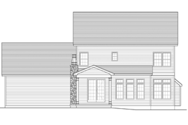 Colonial Exterior - Rear Elevation Plan #1010-50 - Houseplans.com