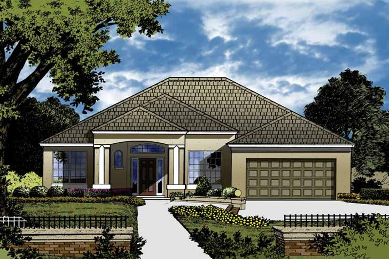 House Plan Design - European Exterior - Front Elevation Plan #1015-40