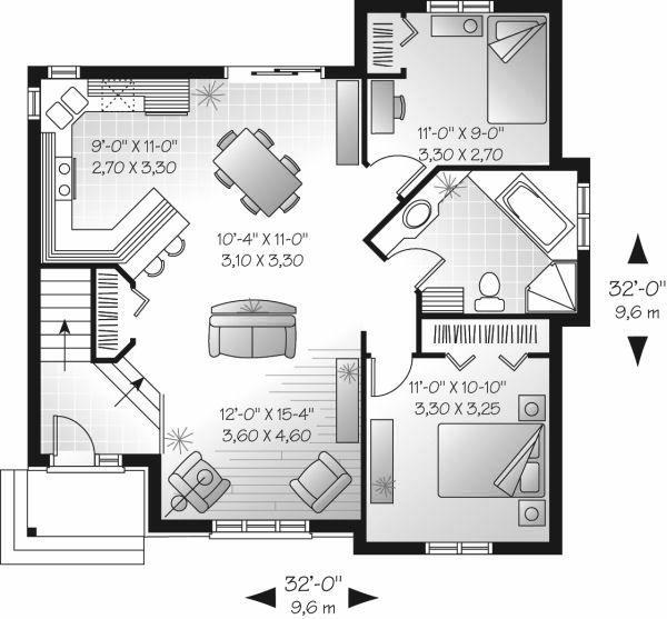Cottage Floor Plan - Main Floor Plan Plan #23-707