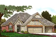 European Style House Plan - 4 Beds 2.5 Baths 2040 Sq/Ft Plan #310-987 Exterior - Front Elevation