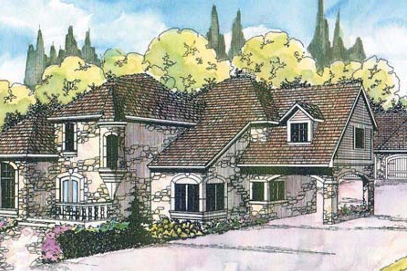Dream House Plan - European Exterior - Front Elevation Plan #124-114