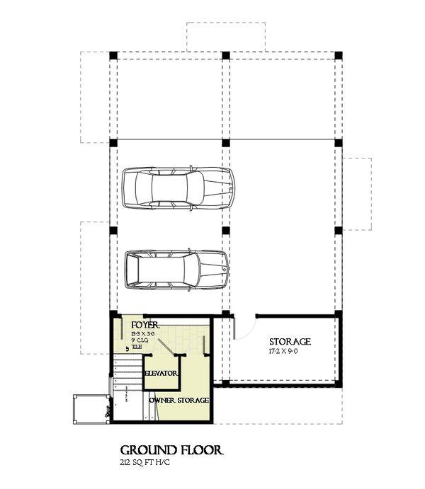Beach Floor Plan - Lower Floor Plan Plan #901-118
