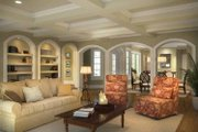 Mediterranean Style House Plan - 4 Beds 3.5 Baths 3225 Sq/Ft Plan #938-25 Interior - Family Room