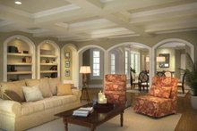 House Design - Mediterranean Interior - Family Room Plan #938-25