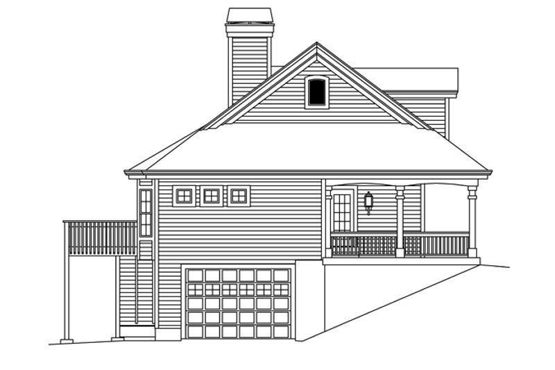 Ranch Exterior - Other Elevation Plan #57-635 - Houseplans.com