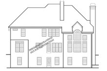 House Design - Colonial Exterior - Rear Elevation Plan #927-699