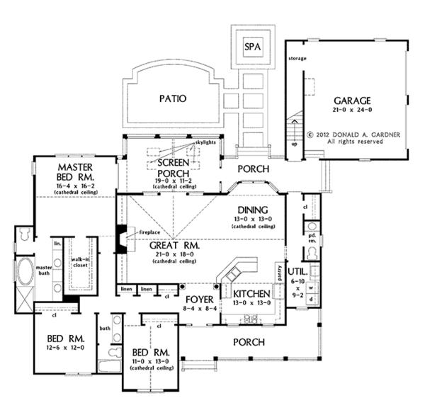 Country Floor Plan - Main Floor Plan Plan #929-961