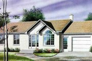 Ranch Style House Plan - 3 Beds 1 Baths 1131 Sq/Ft Plan #25-4106 Exterior - Front Elevation