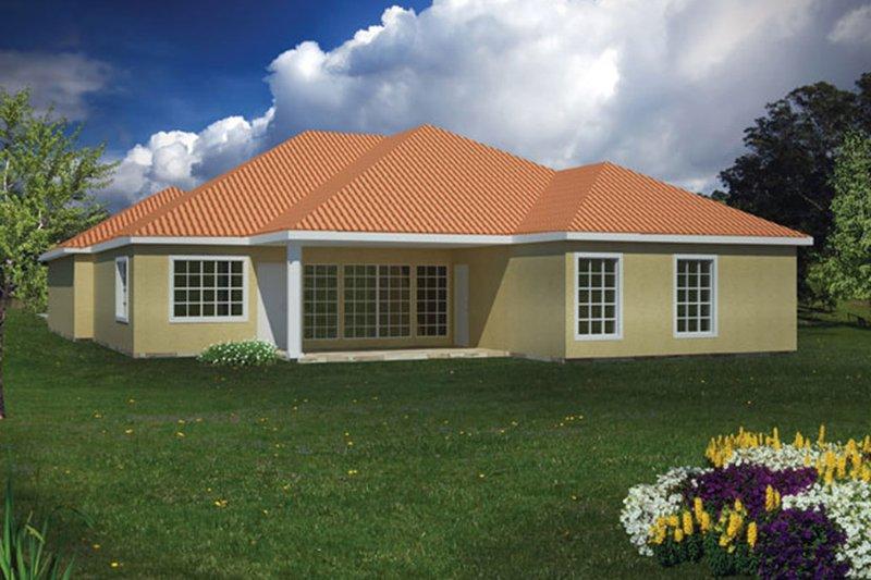 Adobe / Southwestern Exterior - Rear Elevation Plan #1061-13 - Houseplans.com