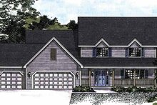 Country Exterior - Front Elevation Plan #51-866
