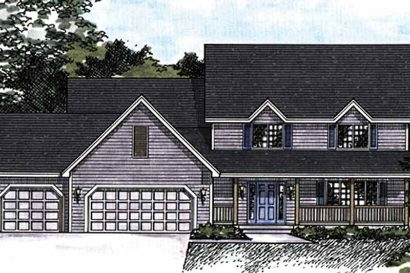 Country Exterior - Front Elevation Plan #51-866 - Houseplans.com