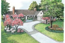 Colonial Exterior - Front Elevation Plan #1040-12