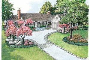 Home Plan - Colonial Exterior - Front Elevation Plan #1040-12