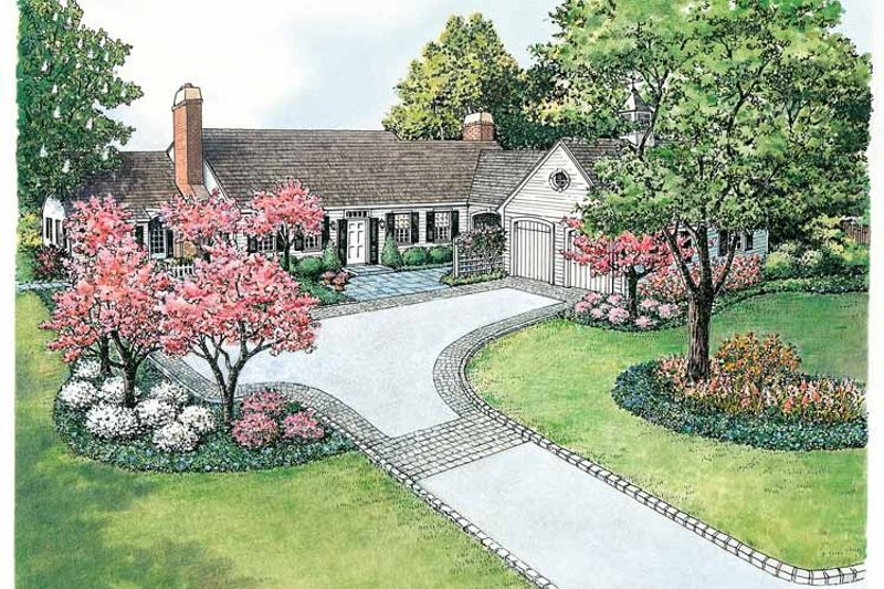 Colonial Exterior - Front Elevation Plan #1040-12 - Houseplans.com