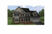 Architectural House Design - Colonial Exterior - Front Elevation Plan #1010-8