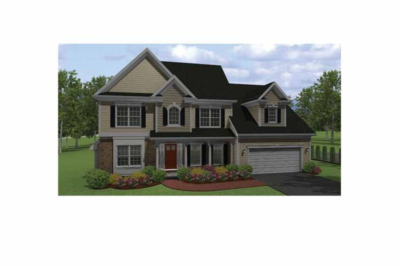 Colonial Exterior - Front Elevation Plan #1010-8