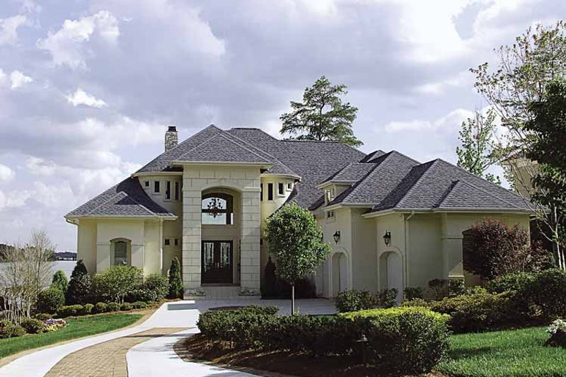 House Plan Design - Mediterranean Exterior - Front Elevation Plan #453-488