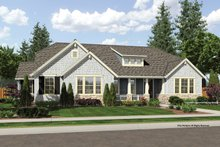 Architectural House Design - Craftsman Exterior - Front Elevation Plan #46-838