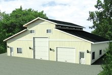Contemporary Exterior - Front Elevation Plan #117-846