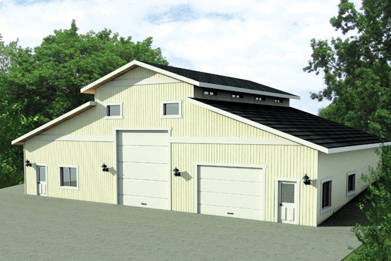 House Plan Design - Contemporary Exterior - Front Elevation Plan #117-846