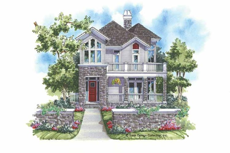 Country Exterior - Front Elevation Plan #930-141