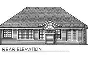 Traditional Style House Plan - 2 Beds 2 Baths 1381 Sq/Ft Plan #70-122 Exterior - Rear Elevation