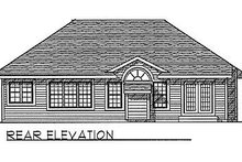 Dream House Plan - Traditional Exterior - Rear Elevation Plan #70-122