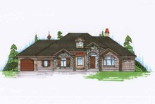 European Exterior - Front Elevation Plan #945-124