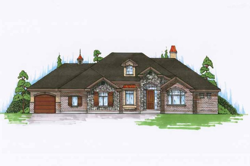House Plan Design - European Exterior - Front Elevation Plan #945-124
