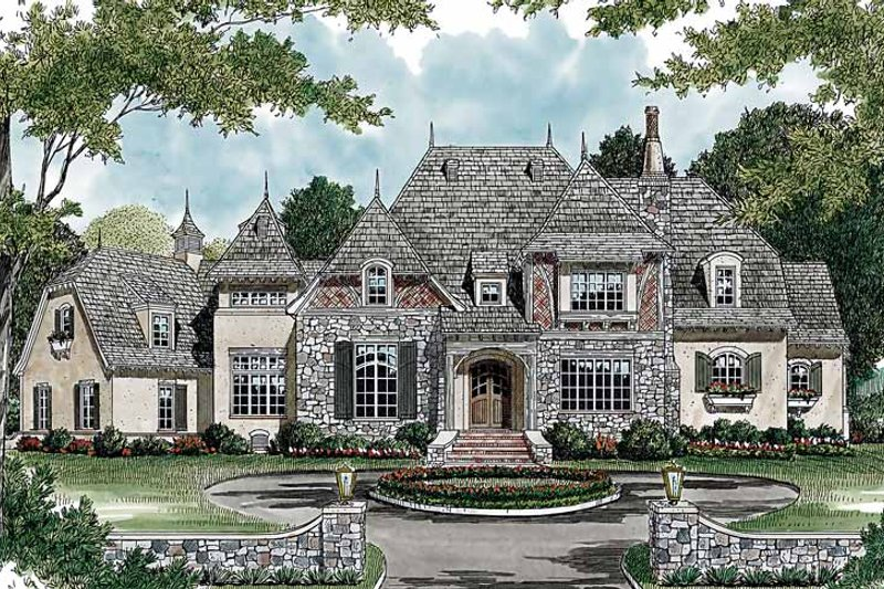 House Plan Design - Country Exterior - Front Elevation Plan #453-468