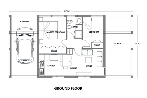 Modern Floor Plan - Main Floor Plan Plan #542-8
