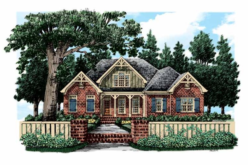 European Exterior - Front Elevation Plan #927-356