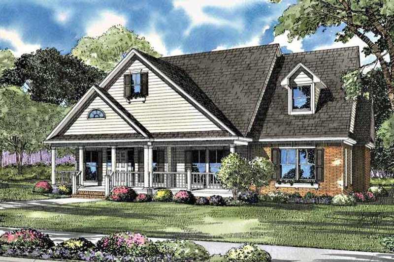 Country Exterior - Front Elevation Plan #17-3060