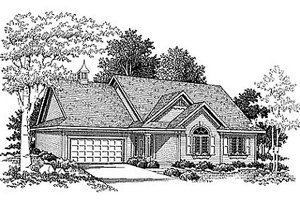 Traditional Exterior - Front Elevation Plan #70-155