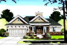 Traditional Exterior - Front Elevation Plan #46-416