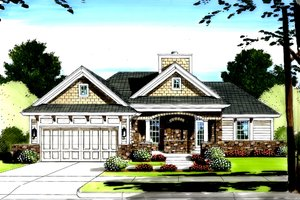 Dream House Plan - Traditional Exterior - Front Elevation Plan #46-416