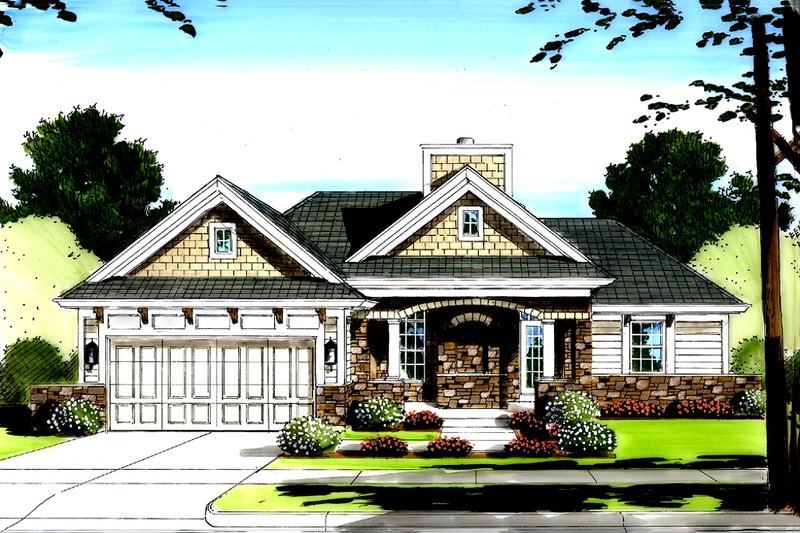 Traditional Exterior - Front Elevation Plan #46-416 - Houseplans.com