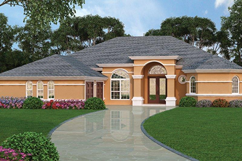 Architectural House Design - Mediterranean Exterior - Front Elevation Plan #417-810
