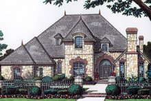 European Exterior - Front Elevation Plan #310-1052