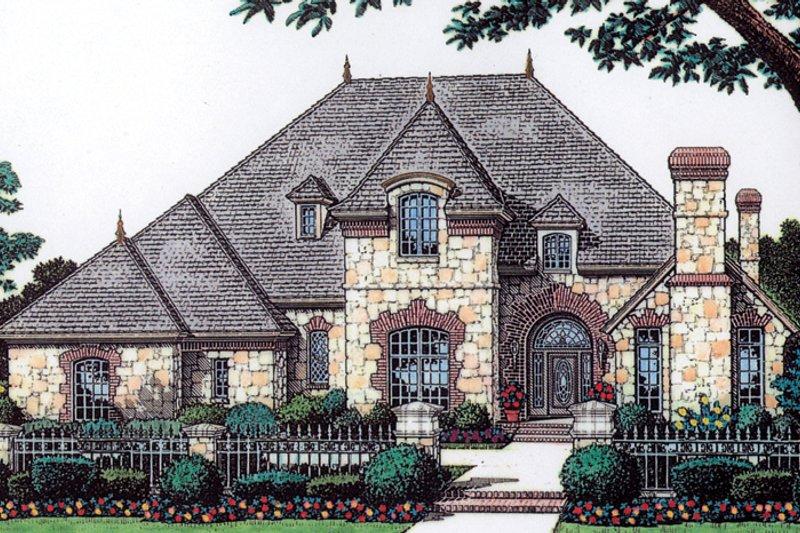 Dream House Plan - European Exterior - Front Elevation Plan #310-1052