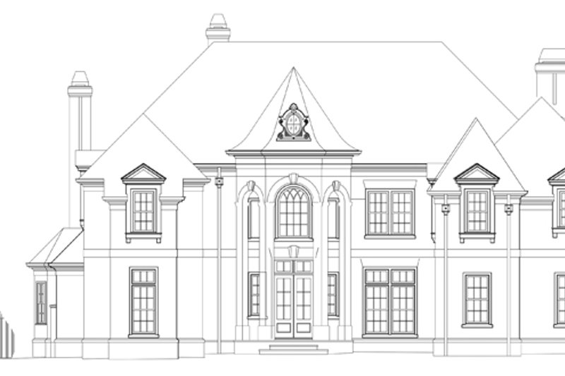 European Exterior - Front Elevation Plan #119-421 - Houseplans.com