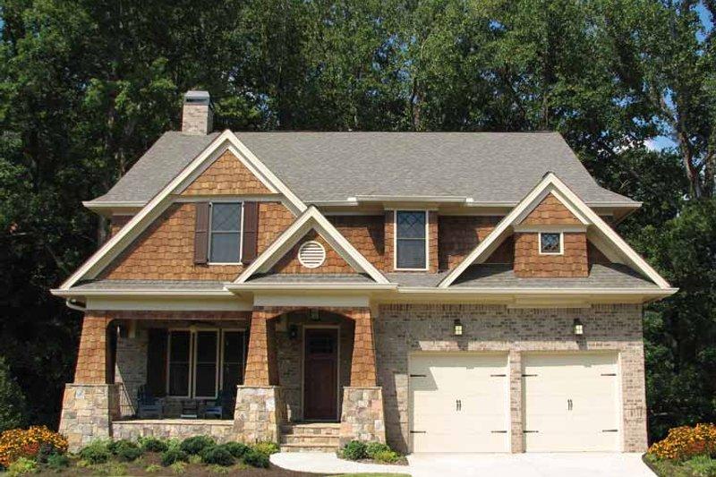 Architectural House Design - Craftsman Exterior - Front Elevation Plan #54-350